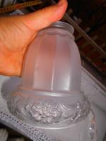 Szecessziós  asztali lámpához maratott üveg búra