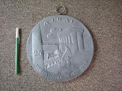 Magyar ezüst :) Ajka alumínium kohó öntöde timföldgyár . Martinász ajkai falikép dombormű plakett