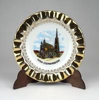 1D562 Aranyozott osztrák porcelán hamutál 11.5 cm
