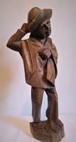 Faragott fa mexikói férfi szobor