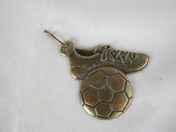 Focis réz kulcstartó foci labda és cipő
