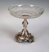Ezüst barokkos asztalközép