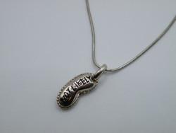 """KK1056 Angol PITE alakú medál nyaklánc szett """"NOT LIKELY"""" 925 jelzett"""