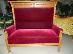 Antik bidermaier sofa,kinyitható 147x143x74cm