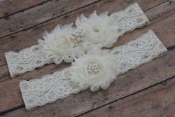 Esküvői, menyasszonyi harisnyakötő szett ES-HK13