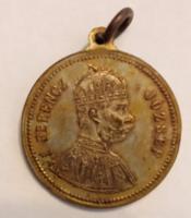 1896-ból. Milleniumi emlék / Ferenc József Br emlékérem füllel, (30mm)
