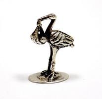 Ezüst gólya miniatűr figura (ZAL-Ag89861)