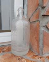 0.5 literes szódásüveg, üveg,  nosztalgia darab, dísznek , Landstoff Görgy Rákospalota