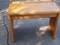 Hagyatékból Kinyitható Tükrös fésülködő asztal óbuda