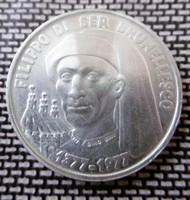 Ezüst San Marino 1000 Líra RR
