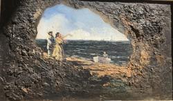 Pammer János 1885-    Sziklás képeslap