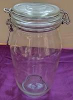 Csatos tároló üveg - 25 cm.