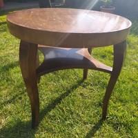 Antik, kerek szalon asztal