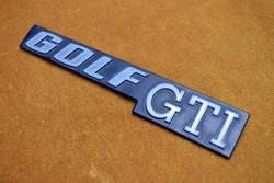 Retro VW 1. vagy 2. -es Golf GTI csomagtér ajtó embléma