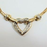 Arany nyakék gyémántokkal