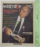Magyar Narancs újság/magazin 1997/12 Göncz Árpád feLugossy Mravik László Szűcs Judith Lopott szépség