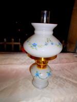 Kézzel festett  üveg petróleum lámpa