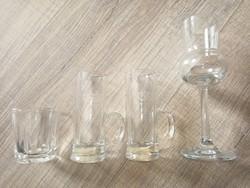 Pálinkás üvegpoharak