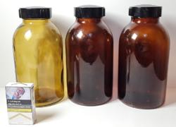 Nagyméretű, 2l-es patikai/gyógyszertári üvegek bakelit tetővel
