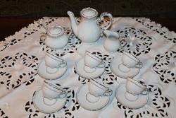 Zsolnay barokk tollazott kávéskészlet