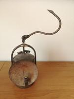 Régi réz bányász lámpa, karbid lámpa, mécses