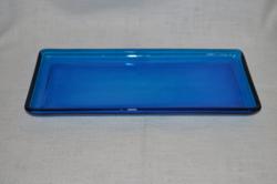 Kék üveg tálca  ( DBZ 00021 )