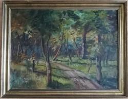 V.Tóth László - Nyári erdő olaj vászon 60x80