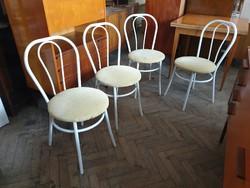 Régi retro csővázas szék fém vázas étkezőszék levehető ülőlappal terasz kerti bútor