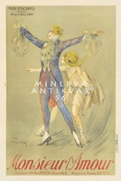 Vintage operett előadás plakát reprint nyomat Ámor balett színház musical kosztüm Cupido nyíl íj