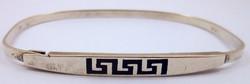 925-ös ezüst karkötő görög minta