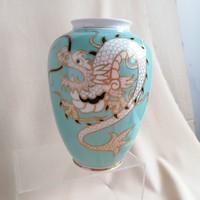 Wallendorfi,  keleti motivumokkal díszített régi váza