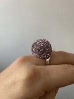 Ezüst gyűrű 18mm belső átmérő gyönyörű díszítés