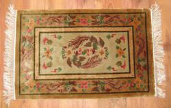 Antik szőnyeg-kínai selyem faliszőnyeg