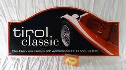 Tirol classic ralley tábla