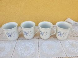 Porcelán ibolya mintás csésze, pohár 4 db eladó