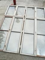 Antik vörösfenyő ablakszárnyak 16 darab