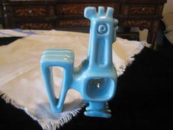Zsolnay kék , art deco , kakas , Nádor Judit terve alapján