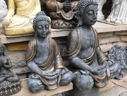 Ritka Szép 67cm Buddha Feng Shui  Antik bronz os Minőségi Import Fagyálló műkő szobor