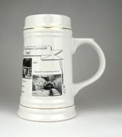 1D761 OMBKE porcelán bányász söröskorsó 17 cm