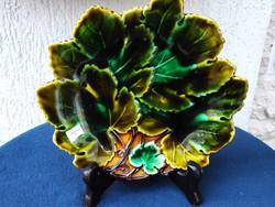Gyönyörű Szecessziós leveles kínáló, színes levelekkel,1es  szàm,Josef Steidl Znaim