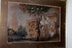 Antik szignált festmény 727