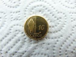 Svájc 10 eurocent 2003 probe - proba