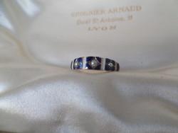 Zománcos arany gyűrű gyöngyökkel
