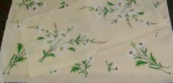Margaréta mintás, kézi hímzett terítő szett - UJ