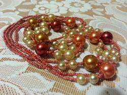 Színes kézműves gyöngy nyaklánc