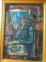 Józsa János festőművész Egyedül