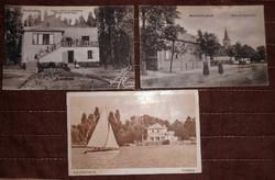 3 Balatonlelle régi képeslap képes levelezőlap