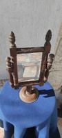 Faragott tükör, Nagy méretű ,pipretükör,billegő, népi ,ónémet , Eredeti 100 éven felüli,borotvàlkozó