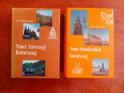 1980-1982-es NSZK és NDK  /Panoráma útikönyv  2 db /régi német útikönyv