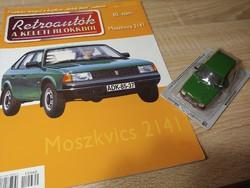 MOSZKVICS 2141  fém retro autó modell  prospektussal